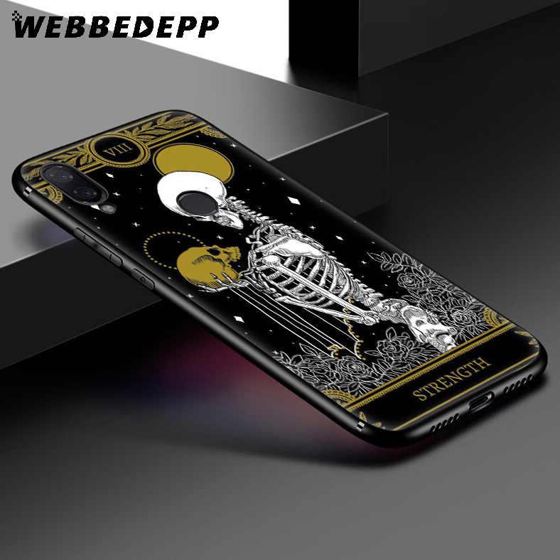 WEBBEDEPP マリーゴールドタロット頭蓋骨カードソフトケース xiaomi Redmi K20 7A 4A 4 × 5 5A 6 6A S2 注 8 4 4 × 5 6 5A 7 プロプラスプライム