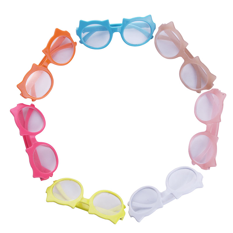 Cute fashion animal frame glasses for 18 inch American girl doll and 43cm Baby Born zapf Doll rose christmas gift 18 inch american girl doll swim clothes dress also fit for 43cm baby born zapf dolls