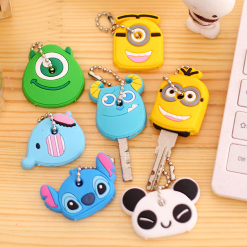 1pcs cartoon Silicone Protective key Case Cover For key Control Dust Cover Holder Organizer Home Accessories Supplies