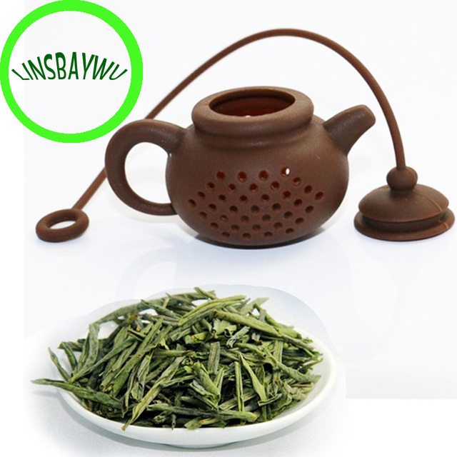 High Quality Creative Silicone Tea Bag Tea Pot Shape Tea Filter Safely Cleaning Infuser 1pcs
