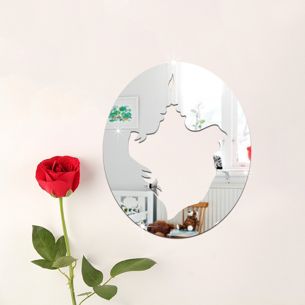 Home Decor Mirror Style Wall Sticker Room Decoration Removable Decal Art DIY Home Appliances Decorative Mirrors Wall Decor