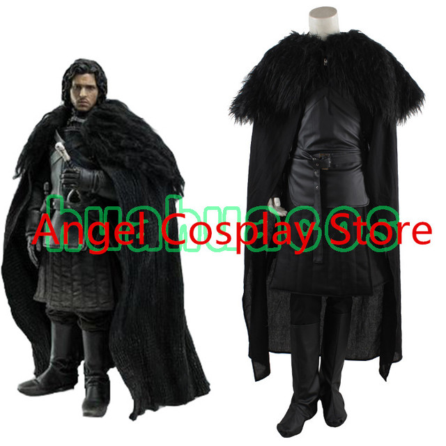 Halloween Adult Game of Thrones Uniform Fashion Cosplay Costume Jon Snow Costume Outfit Full Set Custom-made Any Size