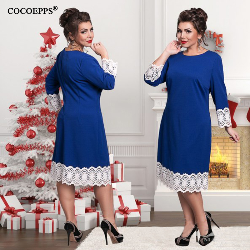 2019 Plus Size ქალის კაბა 5XL 6XL - ქალის ტანსაცმელი - ფოტო 4