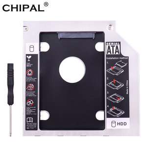 CHIPAL Aluminum 2nd HDD Caddy 9.5 mm SATA3 for 2.5