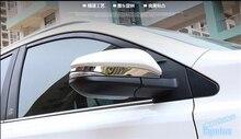 Stainless Steel Side Door Mirrors Rearview Stripe Cover Trim 2 pcs For TOYOTA RAV4 Hybrid 2016 цена