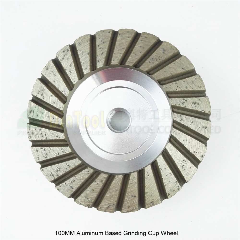 DIATOOL 100mm Diamond Straight Turbo Grinding Cup Wheel, Aluminium Base, Professional Quality 7mm Segment Height For Long Life 4 inch 6 inch straight cup diamond grinding wheel for glass edger straight line double edging beveling machine m009