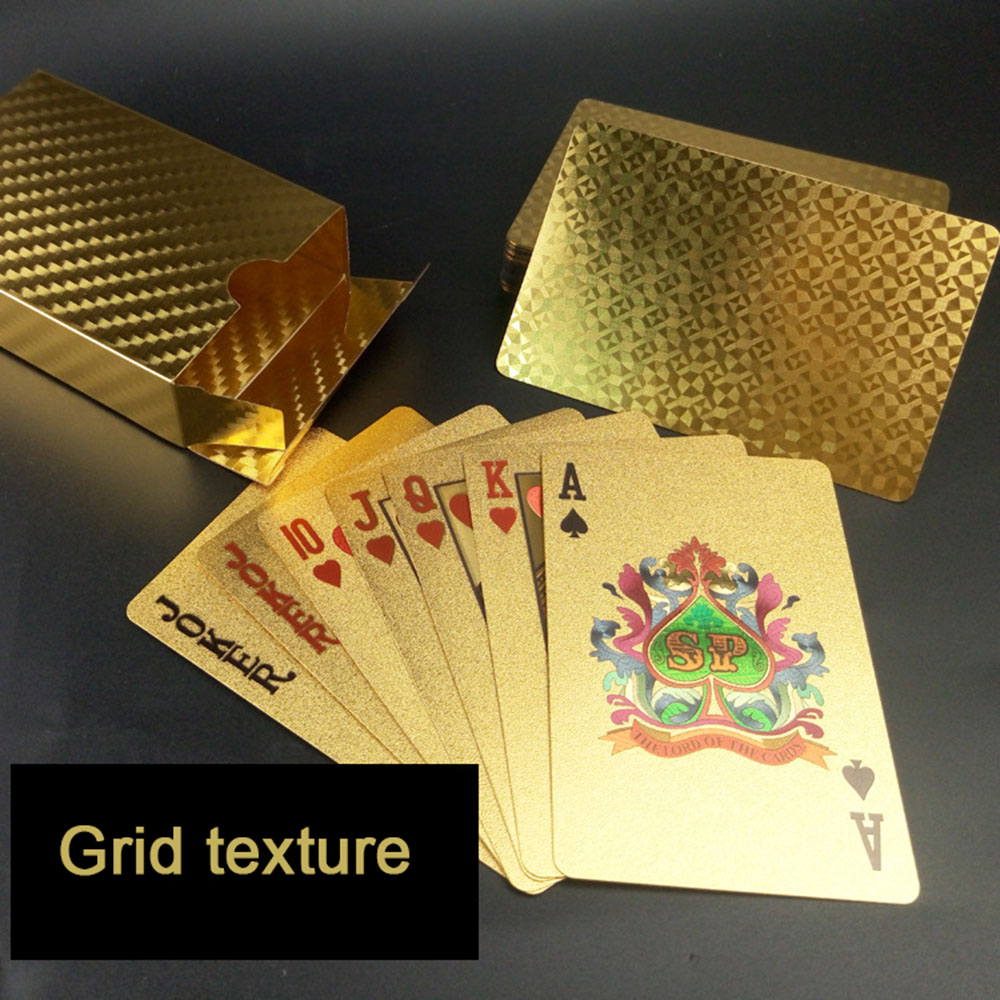 3 Style Golden Playing Cards Deck gold foil poker set Magic card 24K Gold Plastic foil poker Durable Waterproof Cards magic цена