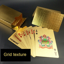 3 Style Golden Playing Cards Deck gold foil poker set Magic card 24K Gold Plastic foil poker Durable Waterproof Cards magic