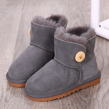 Fashion Comfortable warm brand winter children's snow boots thick warm boys and girls shoes non-slip parent-child winter boots 2018 new russia winter children s snow boots boys girls fashion waterproof warm shoes 30 degree kids thick mid non slip boots