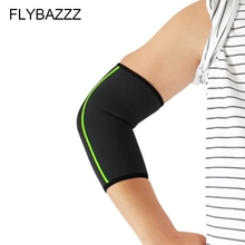 FLYBAZZZ 1Pcs Elbow Support Sleeve Elbow Protector Weightlifting Volleyball Tennis Arm Brace Elbows Pads Basketball Running Pad 1 pc knitted bandage elbow protector compression honeycomb elbow pads support brace arm sleeve for tennis basketball volleyball