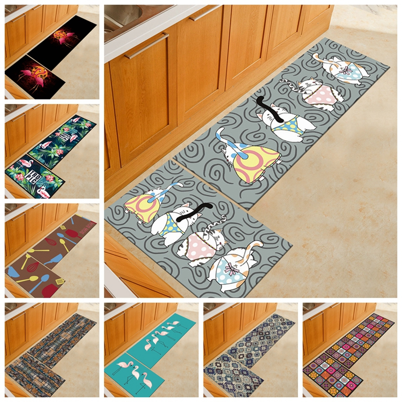 Kitchen Rugs Carpet Washable Polyester