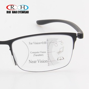 Image 1 - 안티 블루 레이 프로 그레시브 안경 독서 노안 안경 패션 프레임 클리어 렌즈 추가 + 1.00 ~ + 3.50 다 초점 안경