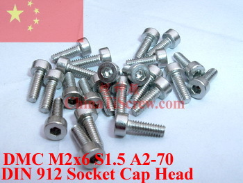 Stainless Steel screws M2x6 DIN 912 A2-70 Polished ROHS 100 pcs titanium screws m4x20 din 912 hex 3 0 driver polished