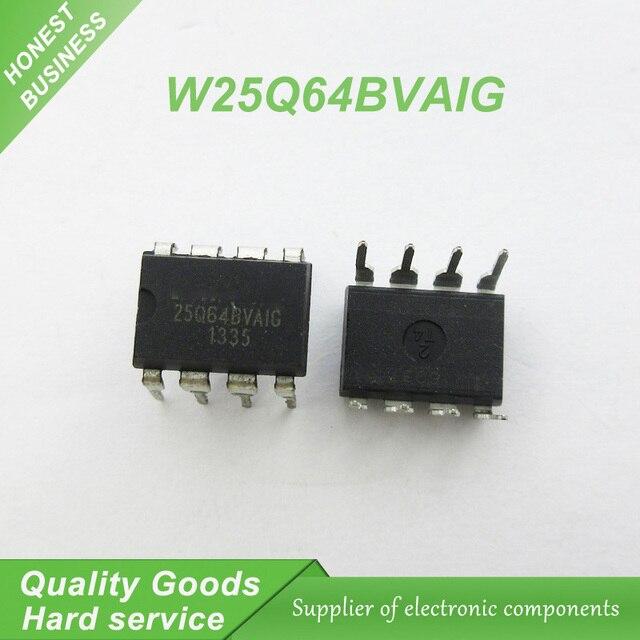 5 шт. Бесплатная доставка 25Q64BG W25Q64 W25Q64BVAIG 4 м DIP наступательных использовать ноутбук чип 100% Новый оригинальный