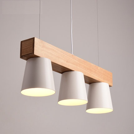 Simple Loft Style Iron Wooden Droplight Modern LED Pendant Light Fixtures For Dining Room Hanging Lamp Indoor Lighting modern simple european style dining room lighting american hollow carved iron bedroom pendant lights
