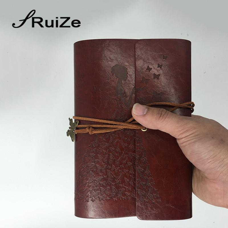 RuiZe travel journal notebook vintage lederen dagboek blanco - Notitieblokken en schrijfblokken bedrukken - Foto 4