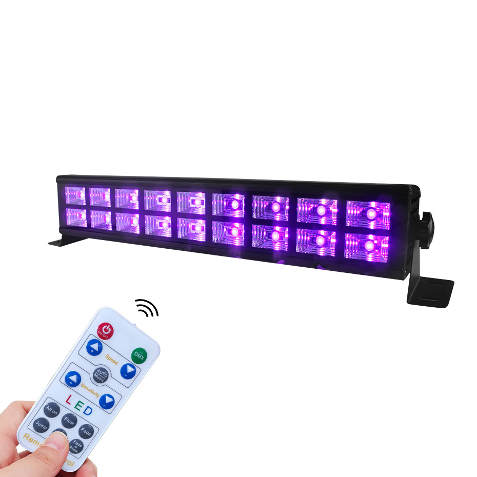 LED Stage Lights 27W/54W Disco Light Sound Activated UV Wash Lights Bar DMX Control Auto Play Strobe Effect Lamp Light For Party