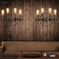 Industrial Retro Wall Lamp Personality Water Pipe Restaurant Wall Light Bar Kitchen Family Luminaria