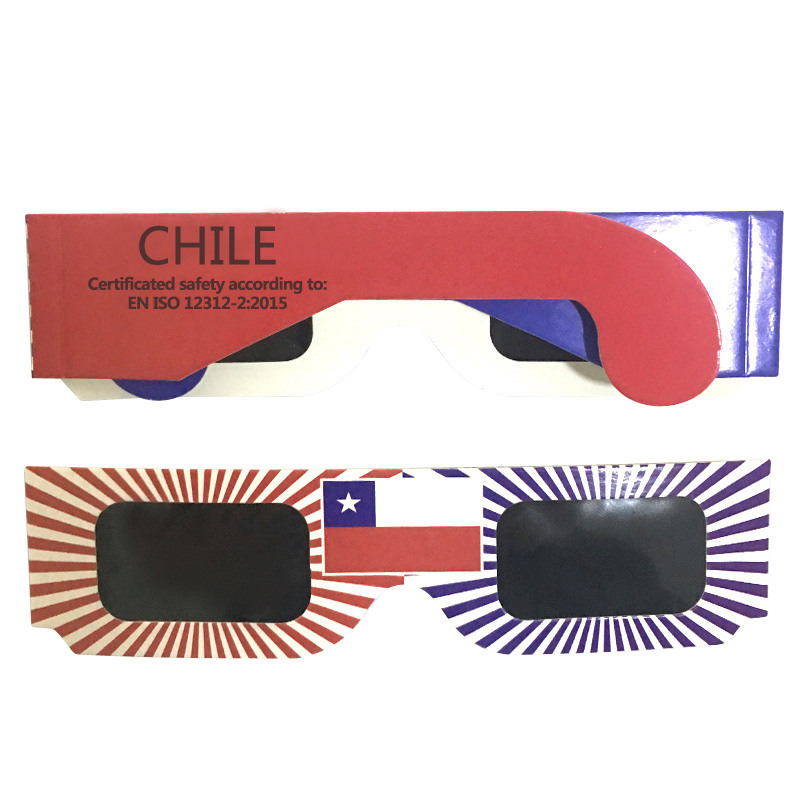 10pcs/lot 3D Paper Safe Solar Glasses,Safe Solar Eclipse Viewing Glasses Wholesale factory direct Cheap price(China)