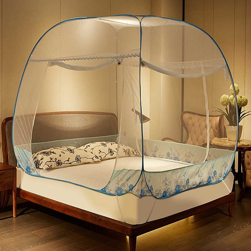 Mosquito Tent Canopy Bed Curtains Square Mosquito Net Three Door Foldable Canopy  Bed Curtains Bed Tent