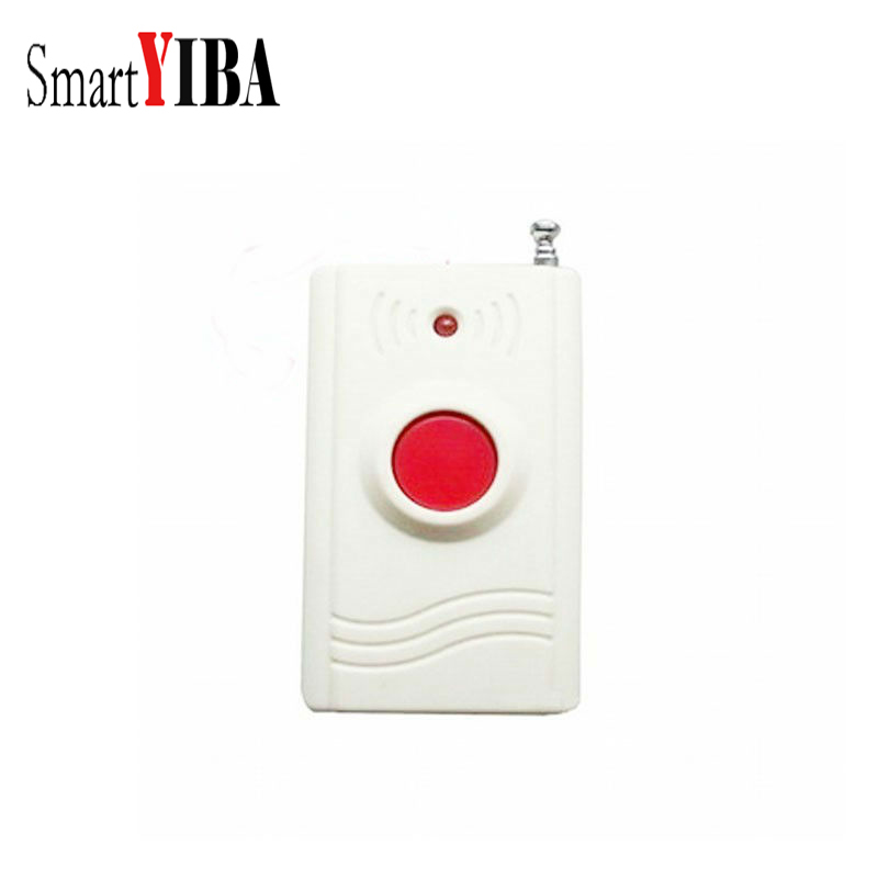 SmartYIBA Wireless 433MHZ Panic Button Emengency Button Help Elderly Wireless Emergency Calling System for Alarm System wireless pager system 433 92mhz wireless restaurant table buzzer with monitor and watch receiver 3 display 42 call button