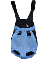 Blue  Mesh Pet Dog Cat Carrier Bag Four Legs Out Free Shippping By CPAM  Bag for Dog