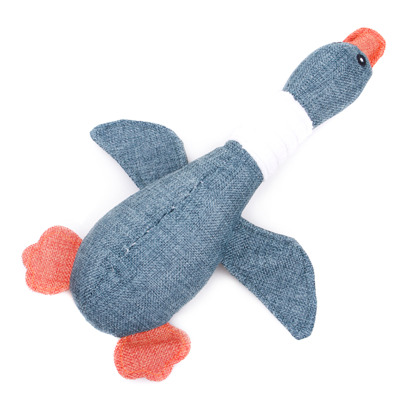 Cartoon Wild Goose Plush Dog Toys Resistance To Bite Squeaky Sound Pet Toy For Cleaning Teeth