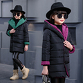 Children's clothing female child wadded jacket outerwear 2016 winter cotton-padded jacket child autumn and winter medium-long