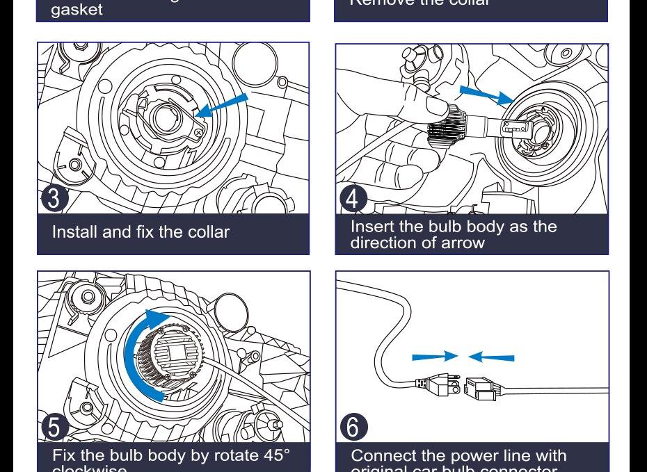 CNSUNNYLIGHT Car LED H4 Compact Headlight H7 H11 9005 HB3 9006 HB4 H1 Auto Bulbs 5500K Turbo Flip Led 8500lm H8 880 H27 Fog Lamp (21)