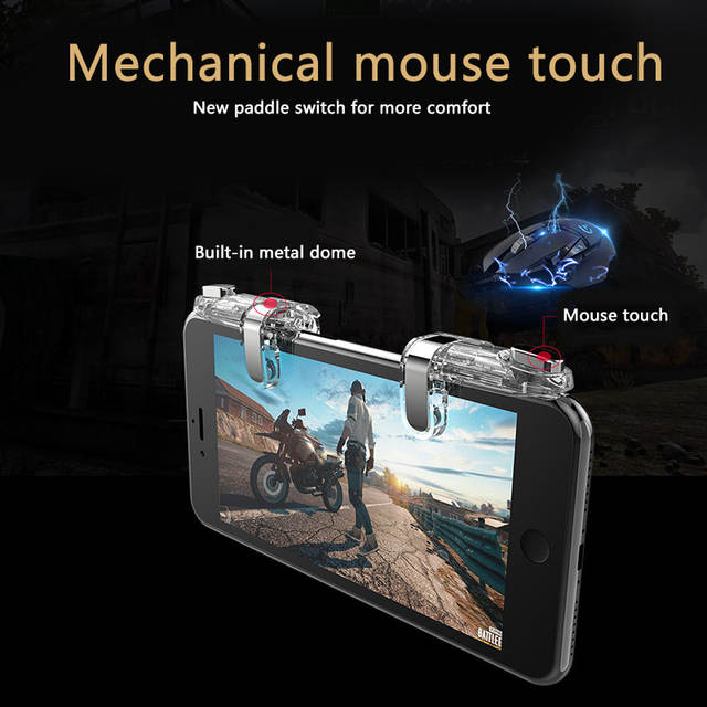 Mini Gaming Trigger For PUBG Gamepad Mobile Control Shooting Game Fire  Buttons L1 R1 for Android Iphone Joystick