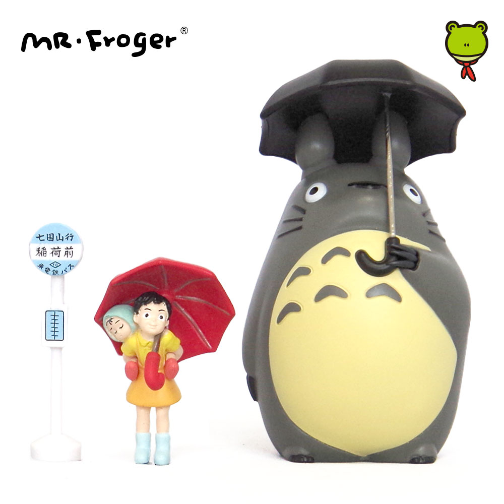 Mr. Froger Studio Ghibli Toy Set Miyazaki Hayao Ombrello Giapponese Action Figures Anime Figurine in miniatura Chibi Animal Kawaii