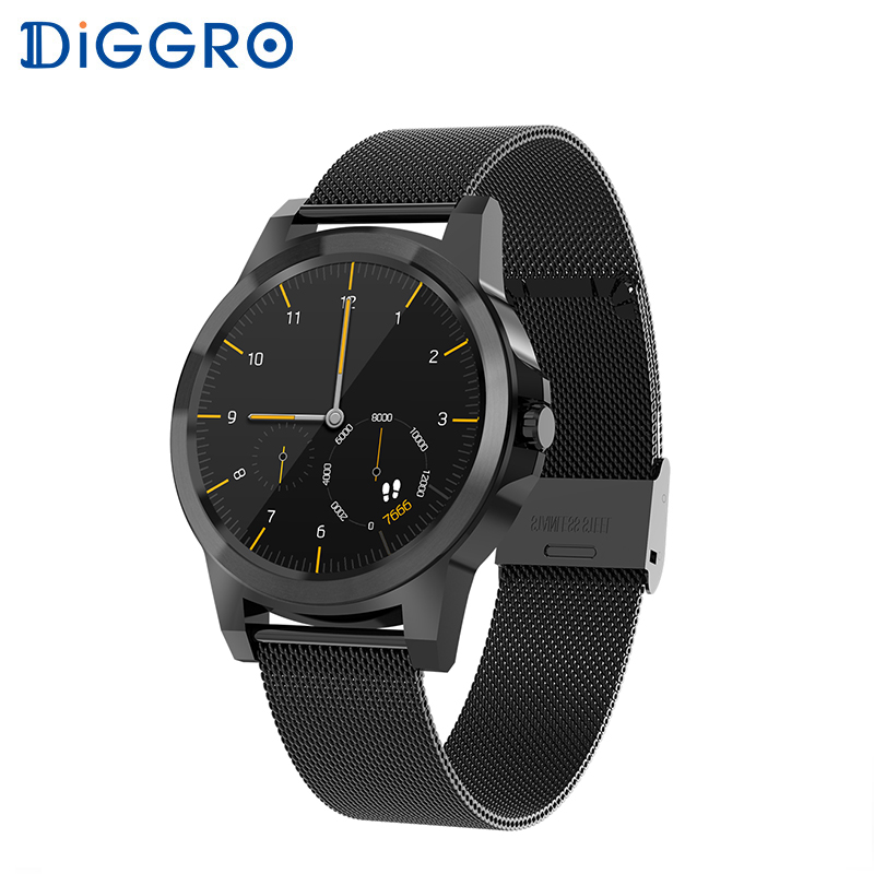 Diggro DI03 Plus Bluetooth Smart watch Waterproof Heart Rate Monitor Pedometer Sleep Monitor for Android & IOS pk DI02 bluetooth siri diggro di02 mtk2502c 128mb 64mb smart watch heart rate pedometer sleep monitor sedentary android & ios reminder