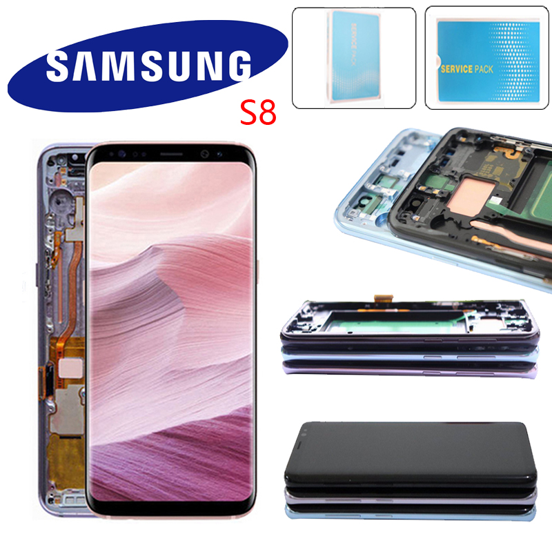 Super AMOLED Display For Samsung S8 Plus G955 G955F S8 G950F G950U G950W LCD Touch Screen