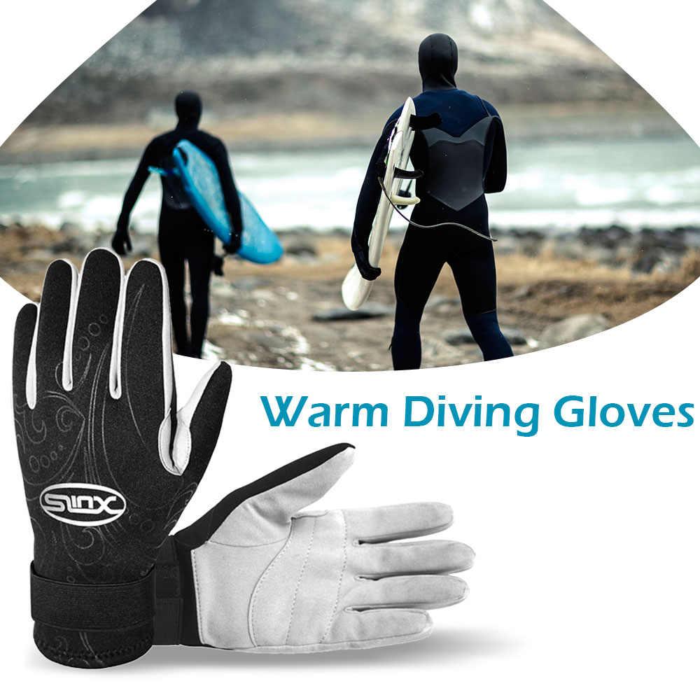 Buceo guantes de neopreno de 2 MM Wetsuit guantes caliente Snorkeling surf kayak guantes usando cinco dedos guantes
