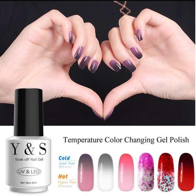 Manicure Mood Changing Color Gel Nail Polish Y S 8ml 205 Colors Soak Off 21 Days