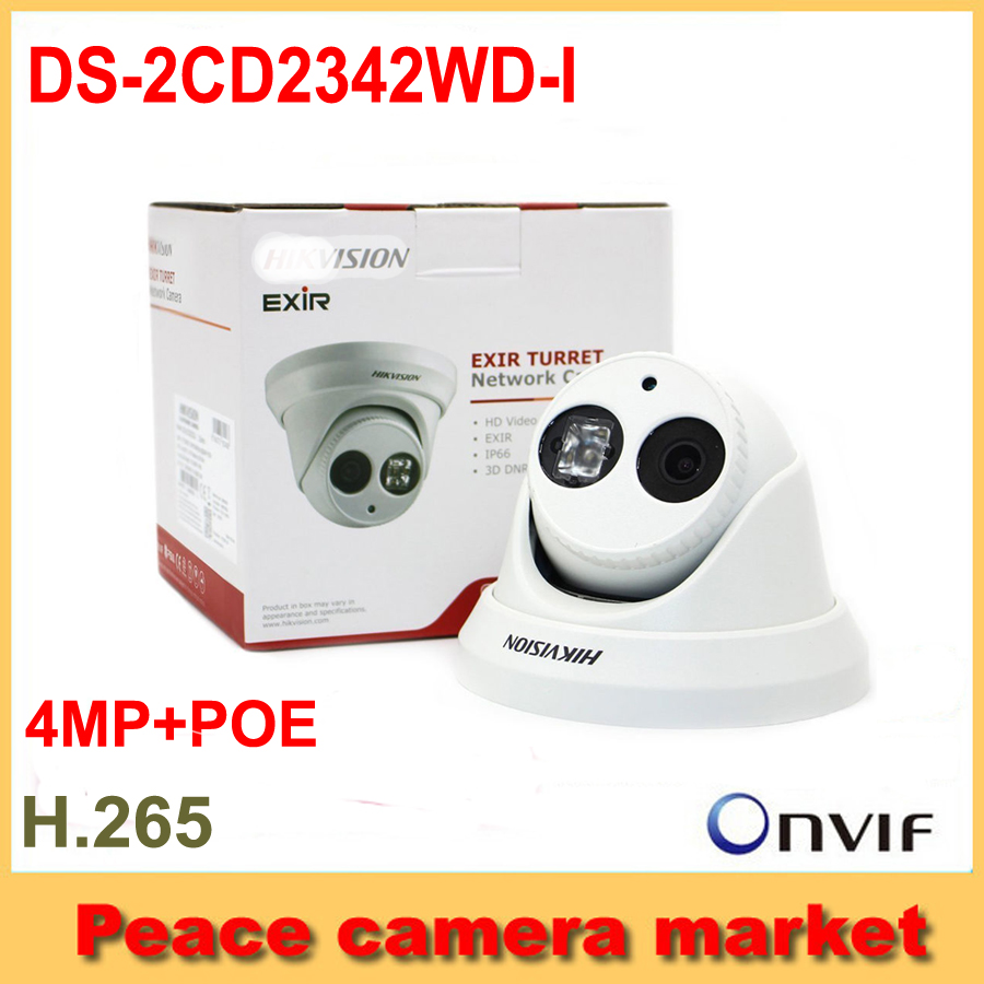 Original Hikvision Dome IP POE camera DS-2CD2342WD-I 4MP IR H265 Network IP CCTV Camera for surveillance system