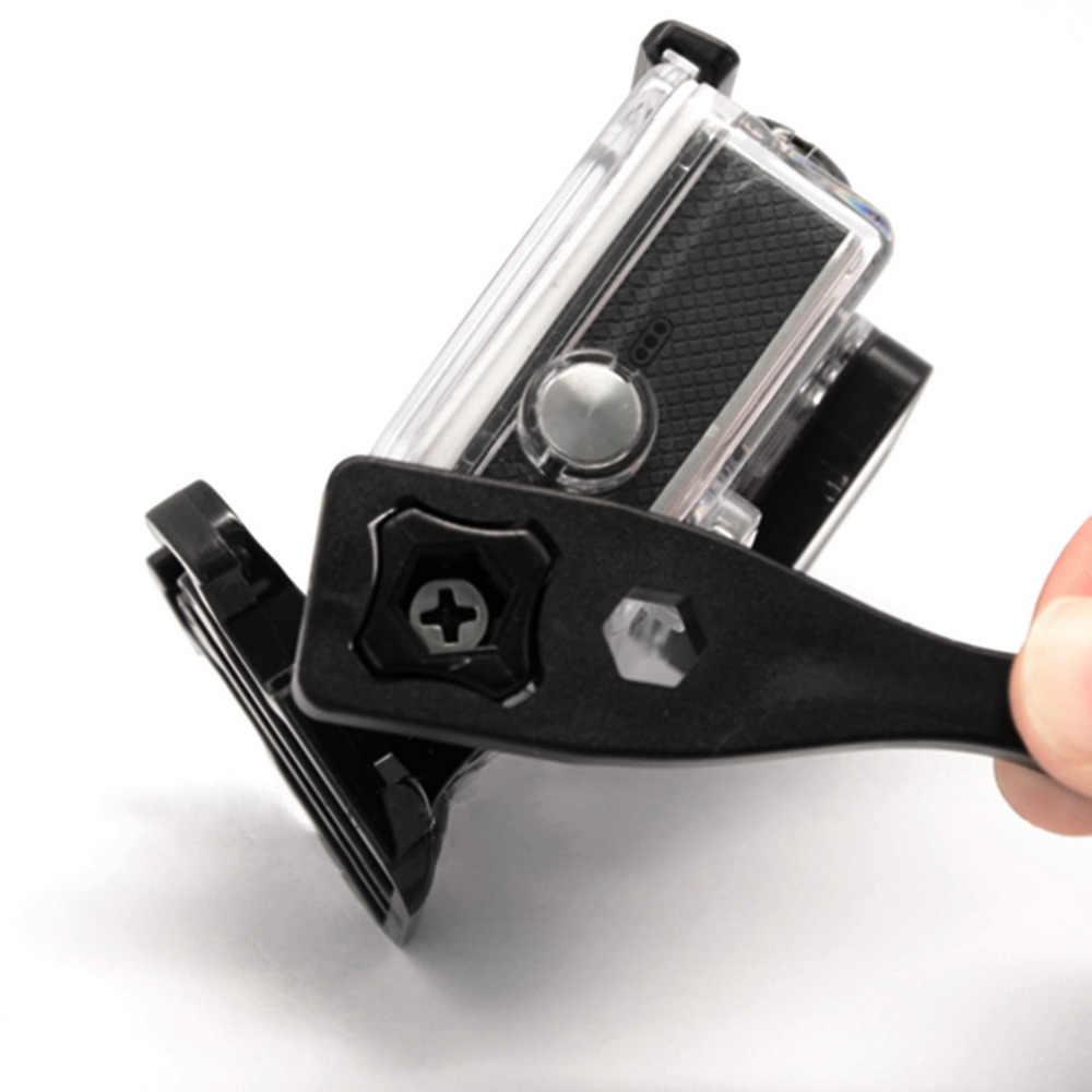 GoPro Hero Acessórios Aperte Knob Parafuso Porca Parafuso 3 Ir pro Wrench Ferramenta Spanner com Corda De Segurança para a Câmera Gopro montar