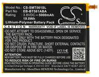 Cameron Sino 5000mAh batterie EB-BT561ABA, EB-BT561ABE pour Samsung SM-T560, SM-T561, SM-T565, Galaxy Tab E Nook édition 9.6