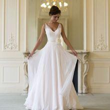 New Arrival Elegant Summer Beach Wedding Dresses With Chiffo