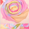 NEW Refreshing Chiffon Multicolor Circle Pattern Design Scarf For Women colorful