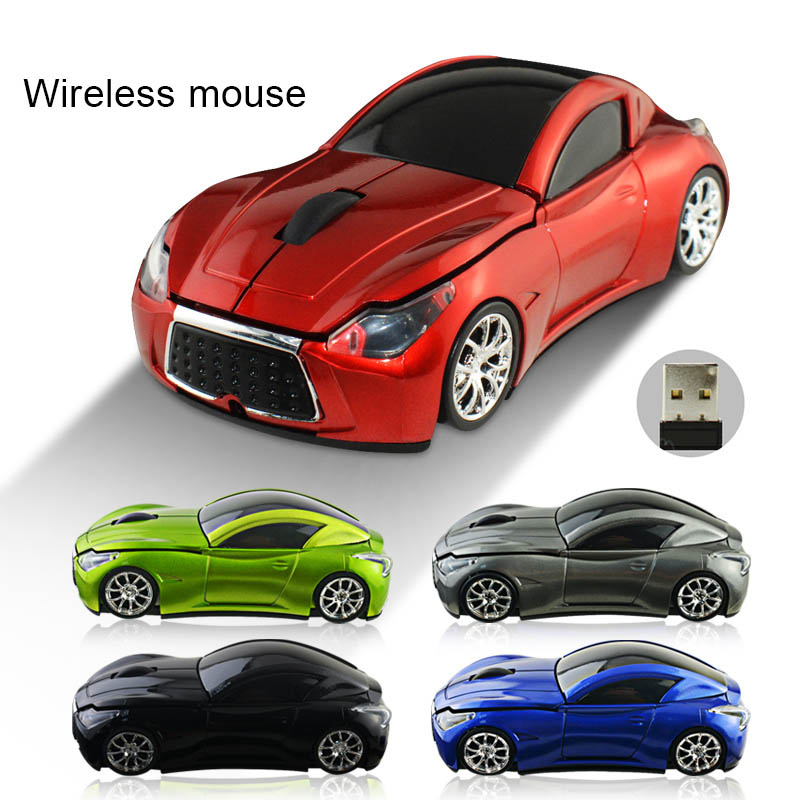 New Hot 2.4GHz Wireless Cordless Optical Mouse Car Shape Mice +USB Receiver For PC Laptop