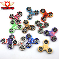New 13 Style Tri-Spinner Fidget Toy EDC HandSpinner Anti Stress Reliever And ADAD Hand Spinners Stress Reliever Spinning Tops