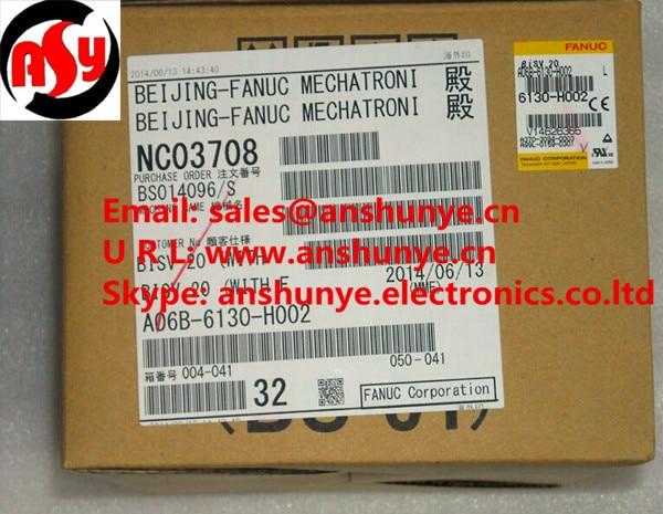 NEW FANUC Servo Amplifier A06B-6130-H002 BRAND-NEW IN ORIGINAL PACKAGING cnc control amp beta isv 20 fanuc servo amplifier a06b 6132 h002