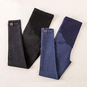 Image 1 - Denim Maternity  Jeans Pants For Pregnant Women Maternity Nursing Pregnancy Jeans Leggings Trousers Gravidas Maternity Clothing