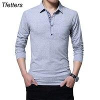 TFETTERS Autumn Casual Men T Shirt Cotton Regular Fit T Shirt Long Sleeve T Shirt Men