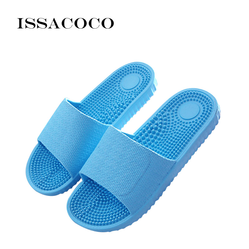52647c1844e68 ISSACOCO Women s Candy Color Indoor Massage Slippers Lightweight EVA Home  Non-slip Massage Slippers Beach Slippers Flip Flop