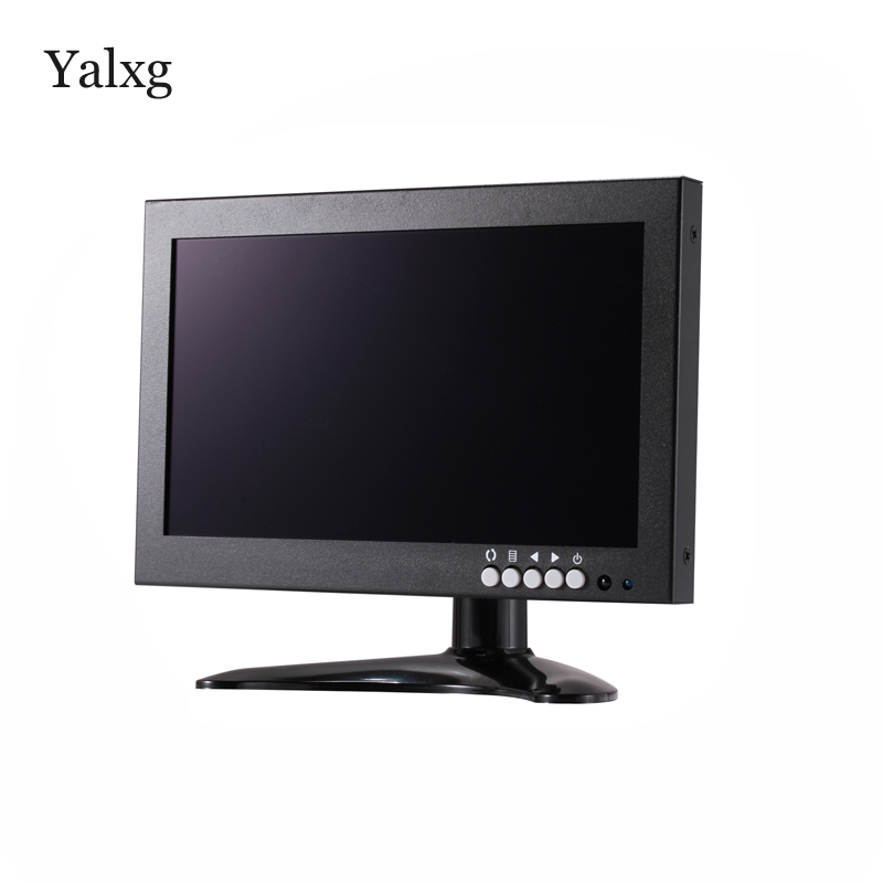Yalxg 8 Inch TFT LED 1280x720 HD IPS Monitor Tester With BNC/HDMI/VGA/AV For PC/CCTV Security Camera/Industrial Display