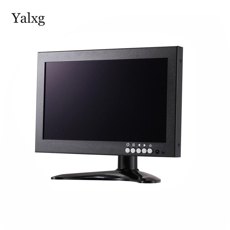 Yalxg 8 pouces TFT LED 1280x720 HD IPS moniteur testeur avec BNC/HDMI/VGA/AV pour PC/caméra de sécurité CCTV/affichage industriel