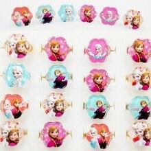 20 штук микс Эльза цветок с принтом «сердце», детская одежда для девочек с героями мультфильмов кольца Anna с бесплатной доставкой