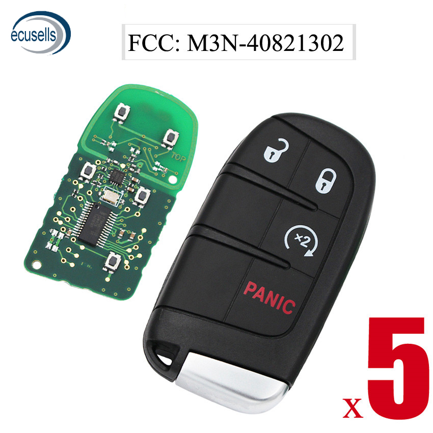 5PCS 3 1 4 Button Remote Key 433mhz 7953A for Dodge Challenger Journey 2014 2018 with